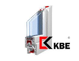 Окна ПВХ KBE (КБЕ) KBE-88-мм
