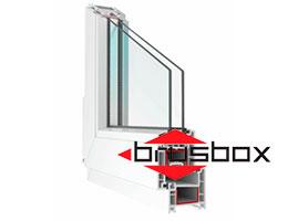 Окна ПВХ Brusbox Aclass 60. Монтажная ширина 60мм